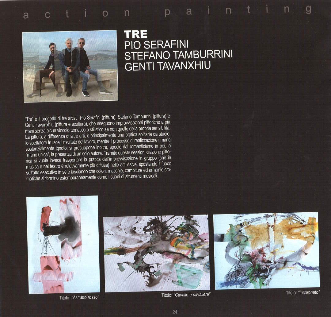 """Tre: Pio Serafini, Stefano Tamburrini, Genti Tavanxhiu, verso il """"Festival dell'Arte sul mare"""" 2020"""