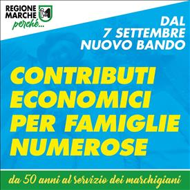 200 mila euro di contributi per le famiglie numerose