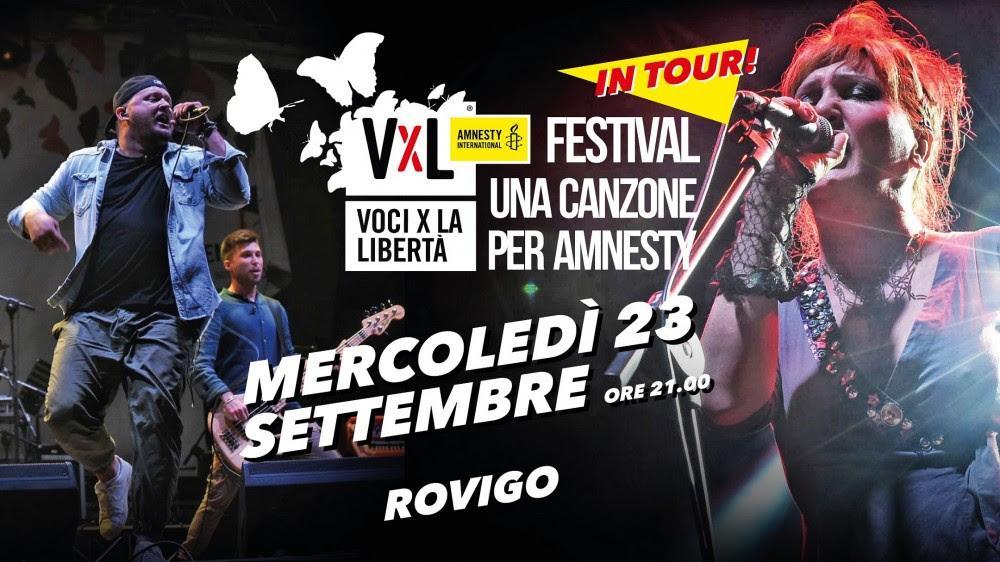 Voci per la libertà in tour: il 23 settembre a Rovigo con H.e.r. e Grace N Kaos