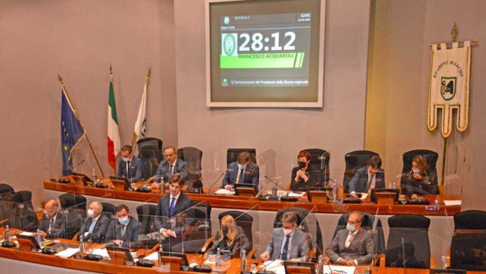 Prima seduta del Consiglio Regionale, l'intervento di Acquaroli