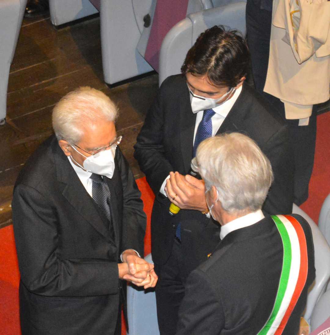 Acquaroli accoglie Mattarella all'UniMc