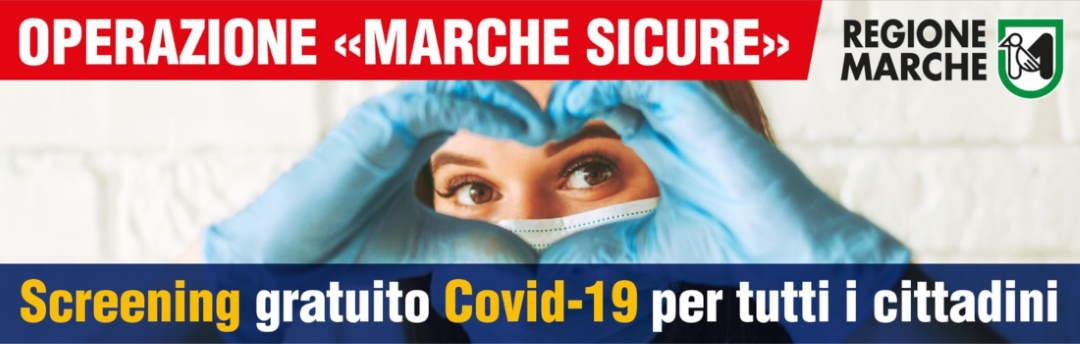 Operazione Marche Sicure, aggiornamento screening 28/01/2021