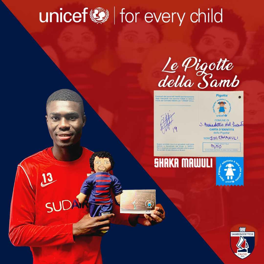 Samb, partecipa all'asta per le Pigotte di Shaka Mawuli, Federico Angiulli e Dario D'Ambrosio