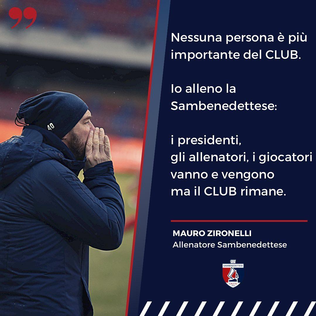 Samb, Zironelli lascia!