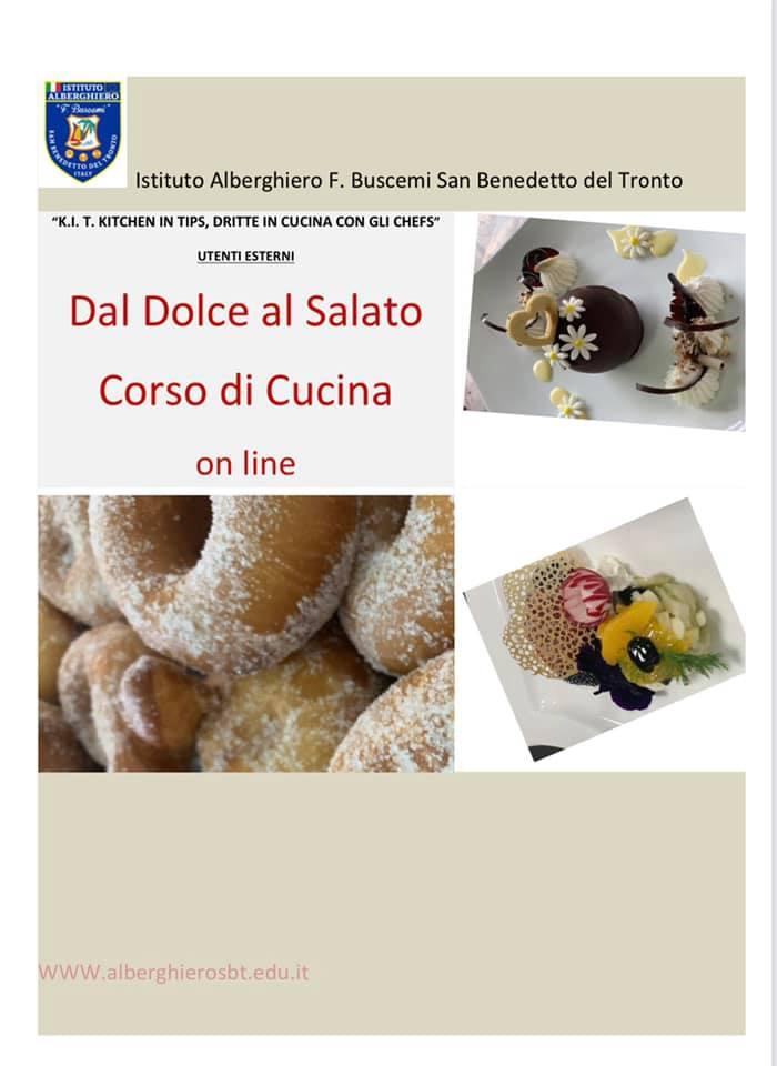 """Kit Kitchen in Tips """"Dal Dolceal Salato"""": Corso di Cucina anche online all'Alberghiero Buscemi"""