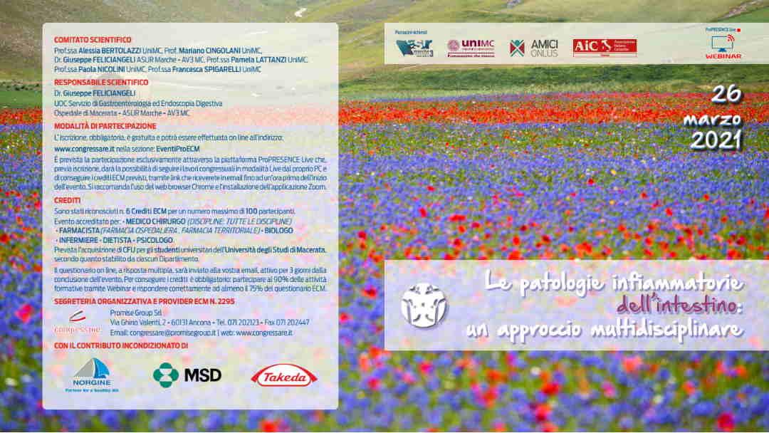 UniMc, congresso sulle patologie intestinali