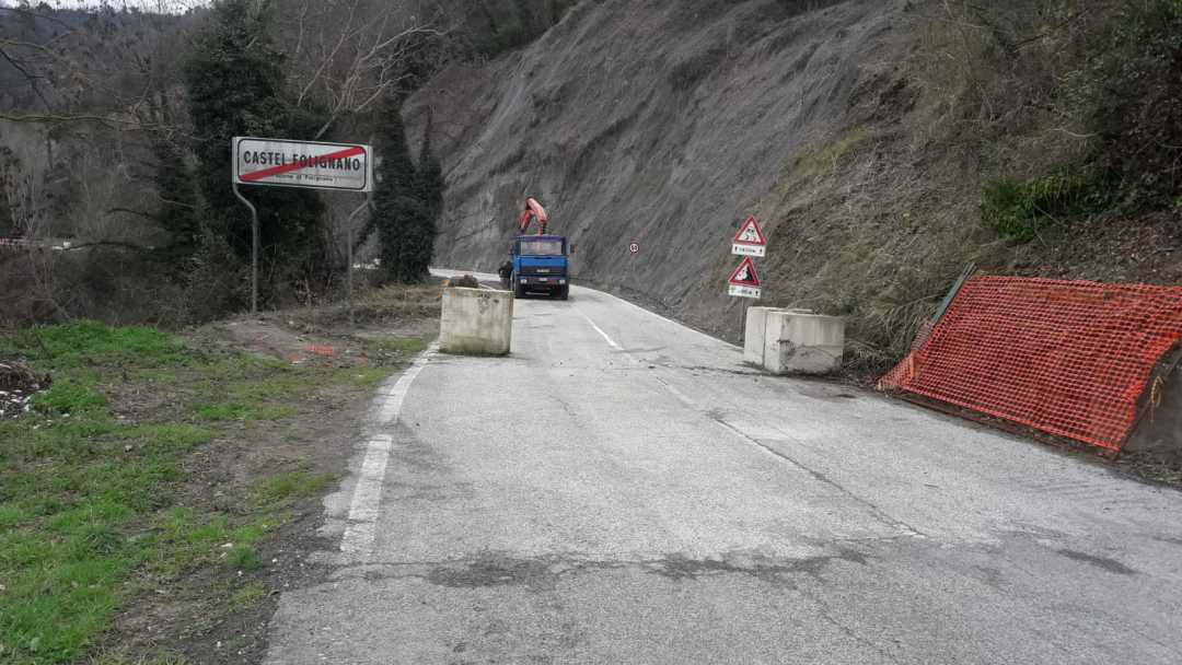 Riaperta al transito la Sp 31 Folignano
