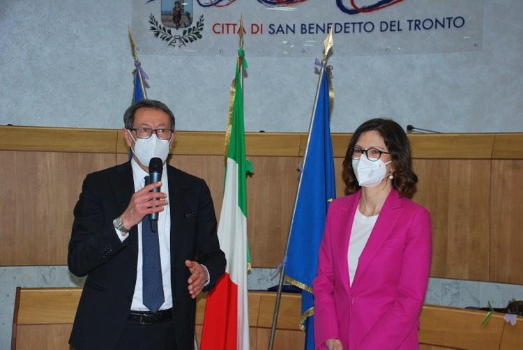 Maria Stella Gelmini ricevuta in Municipio