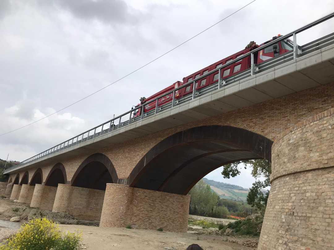 Ponte Rubbianello, eseguito con successo il collaudo statico