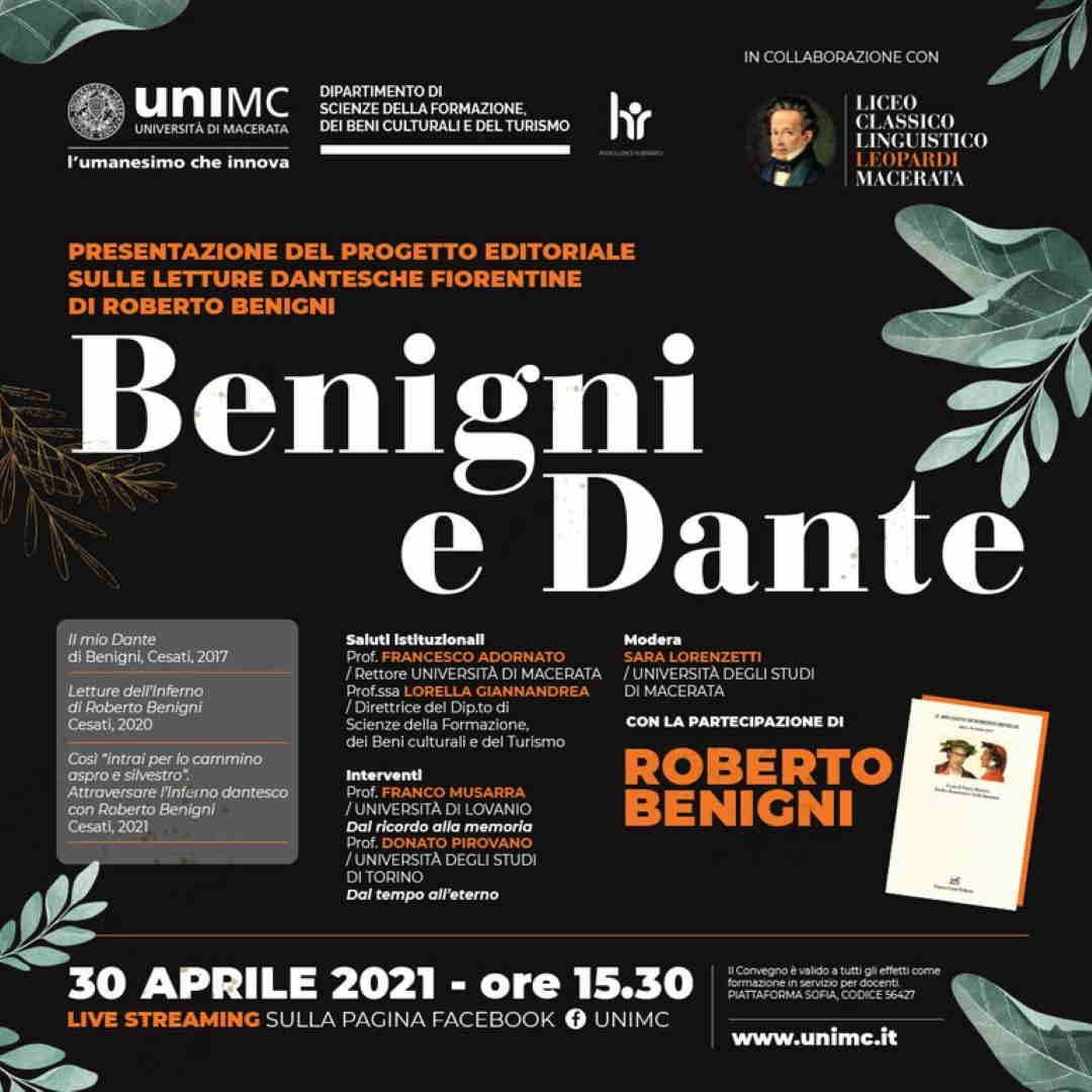 Roberto Benigni porta il suo Dante a UniMc