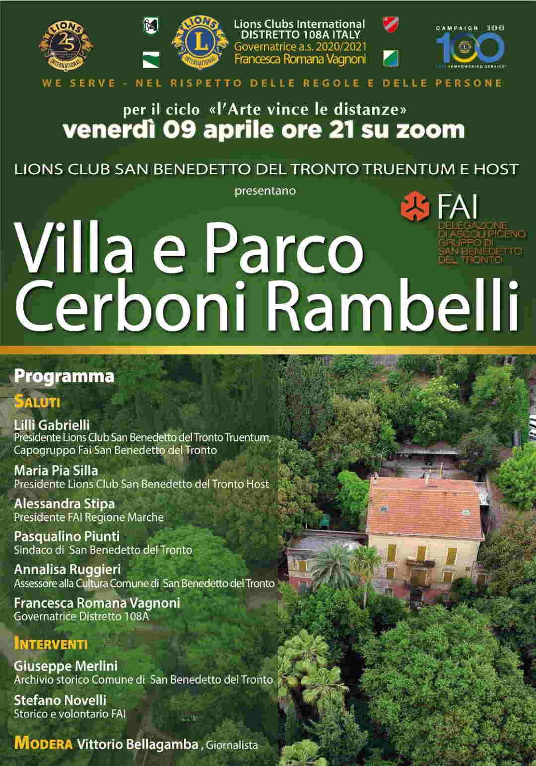Villa e Parco Cerboni Rambelli un patrimonio di San Benedetto