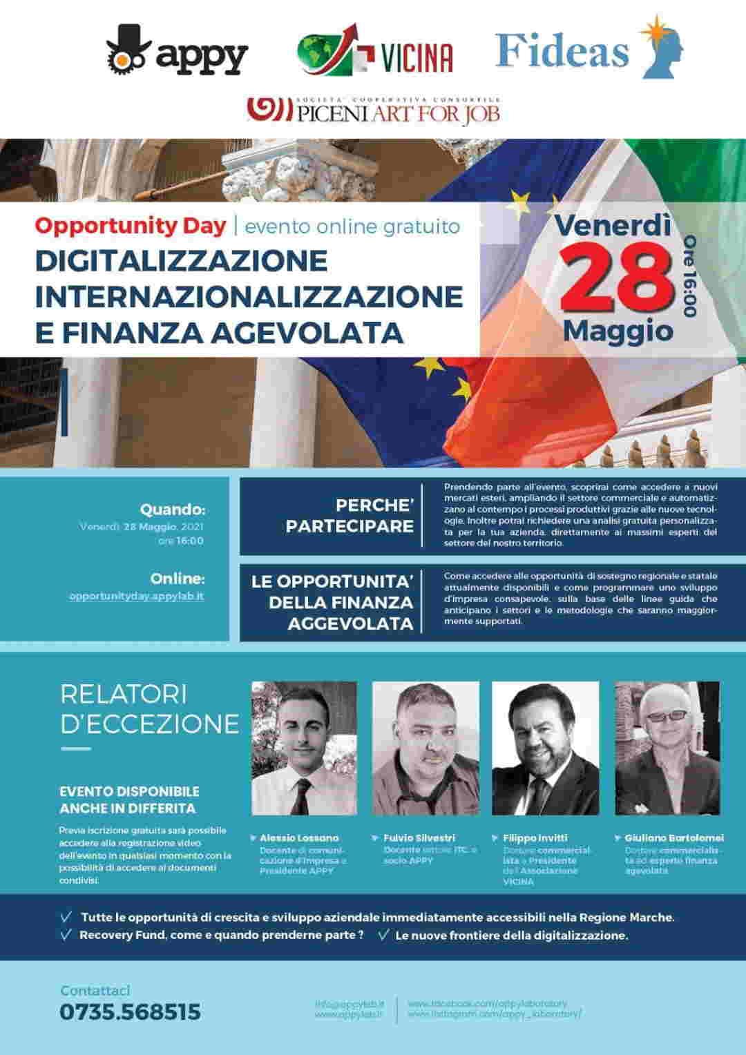 Webinar Digitalizzazione, Internazionalizzazione e Finanza Agevolata