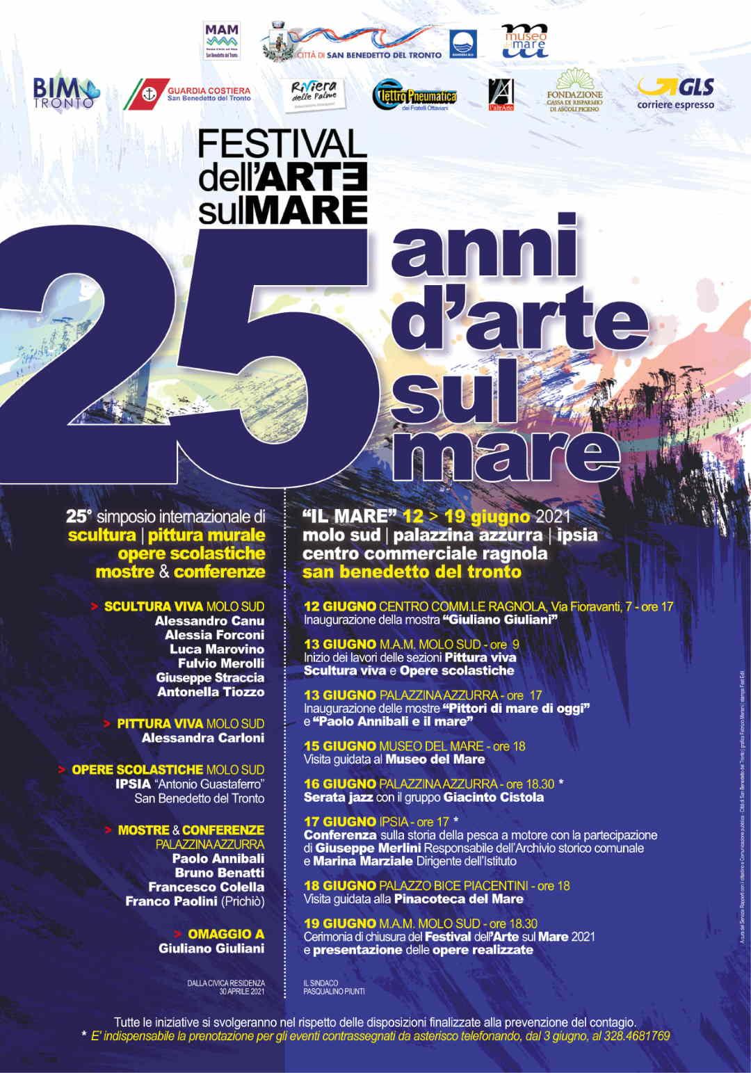 Verso i 25 anni del Festival dell'Arte sul Mare