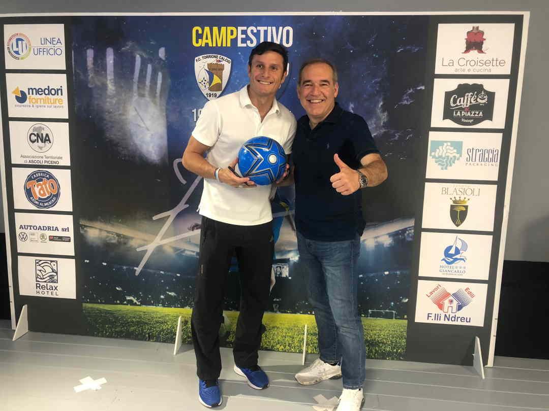 Javier Zanetti ospite di Antonio Spazzafumo per il Torrione Calcio