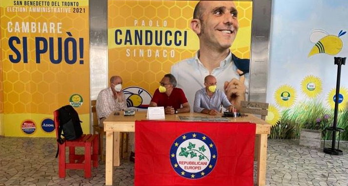 Repubblicani Europei a sostegno del candidato Sindaco Paolo Canducci