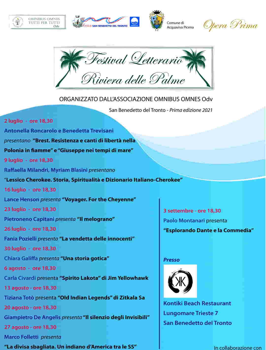 Festival Letterario Riviera delle Palme: in anteprima il calendario