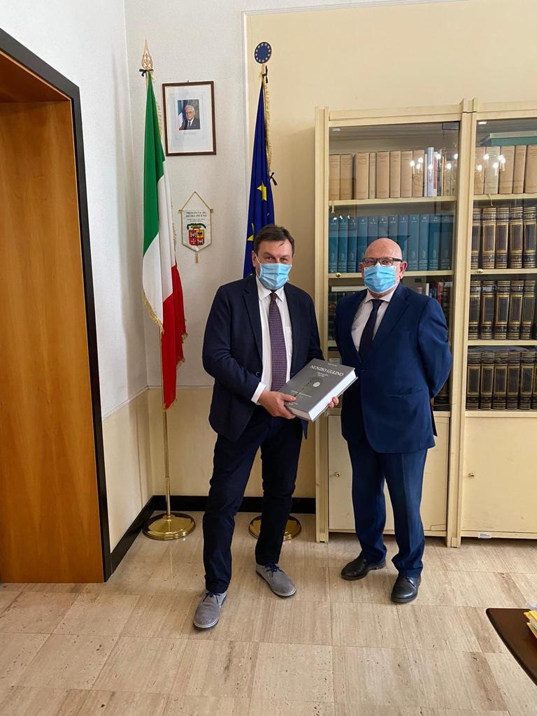 Incontro in Provincia tra il nuovo Prefetto De Rogatis e il Presidente Fabiani