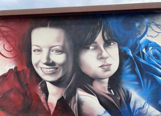 Carla Bisirri e Maria Teresa Napoleoni: murale di William Kaine