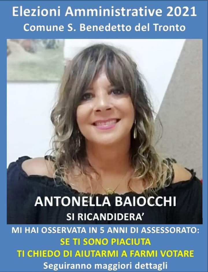 Elezioni amministrative, l'Assessore Antonella Baiocchi si ricandida