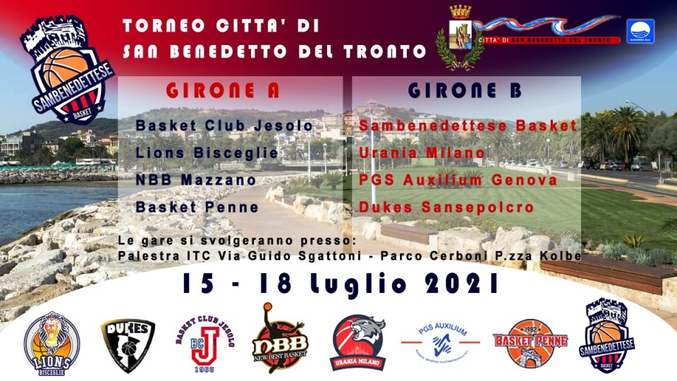 Torneo nazionale basket U 14 maschile al parco Cerboni