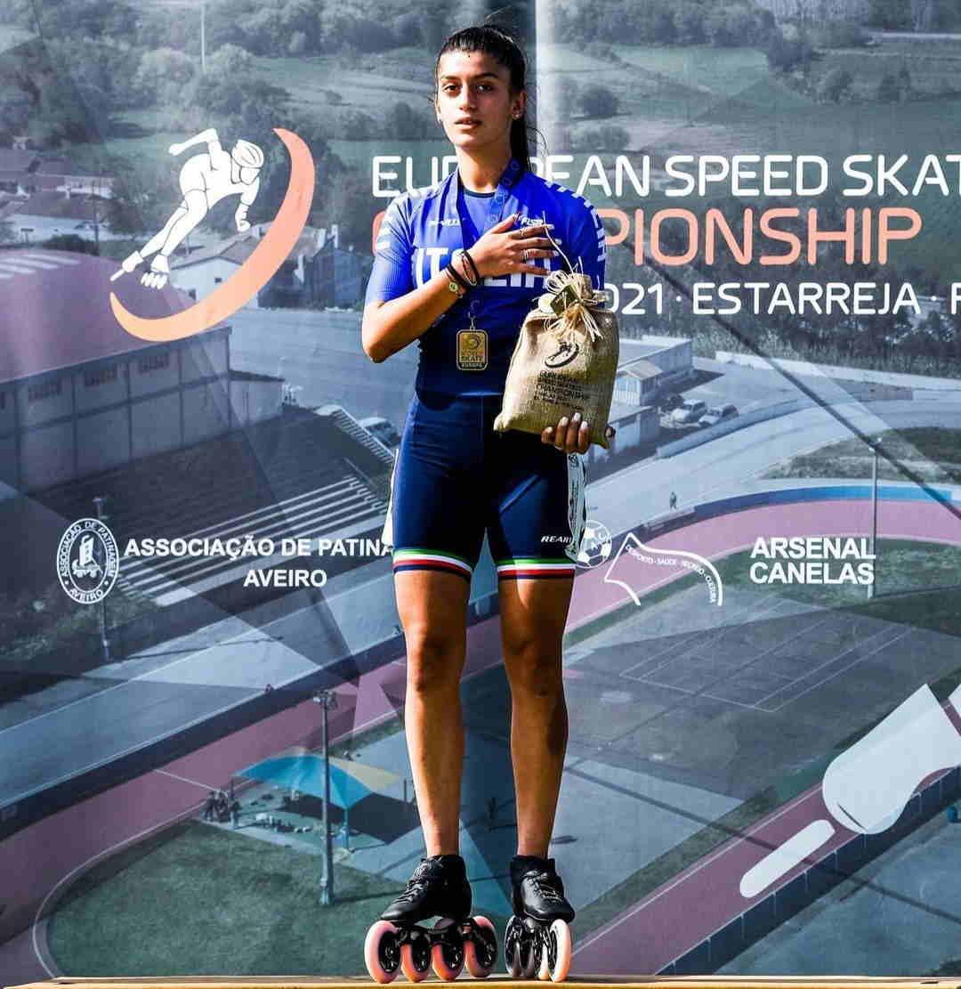Pattinaggio corsa, Giulia Presti d'Oro da Porto Sant'Elpidio al tetto d'Europa