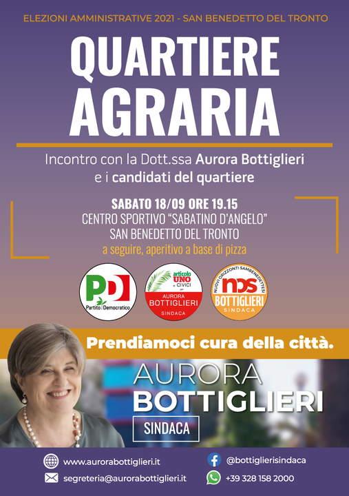 Aurora Bottiglieri incontra il quartiere agraria e la Sottosegretaria Guerra