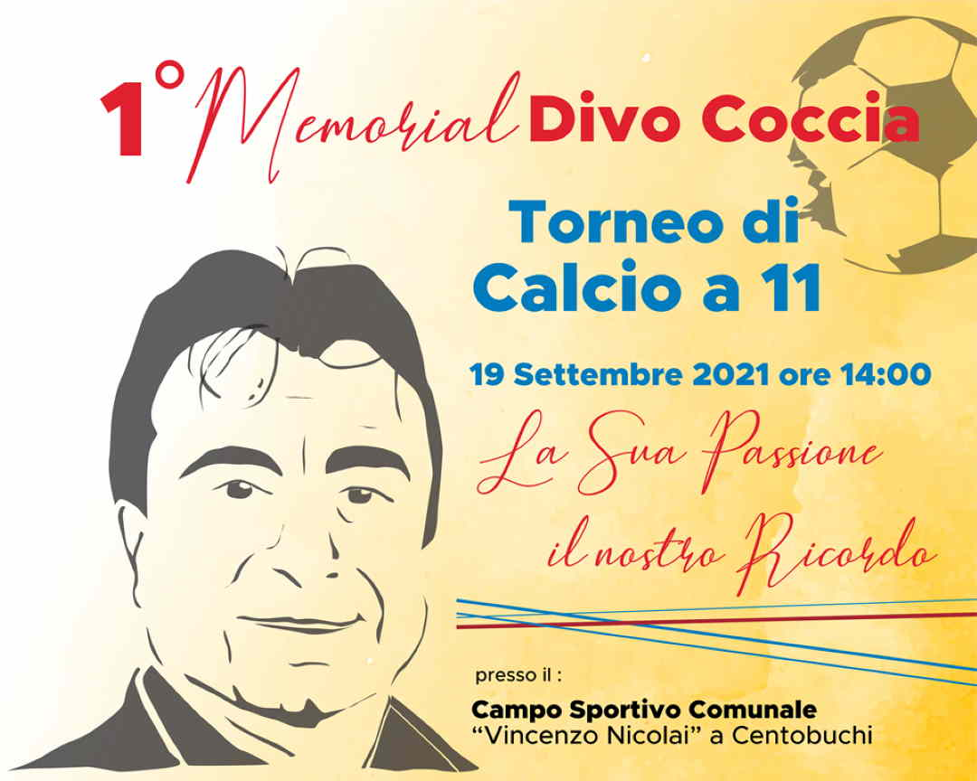 """Avis Monteprandone, Domenica 19 settembre il 1° Memorial """"Divo Coccia"""""""