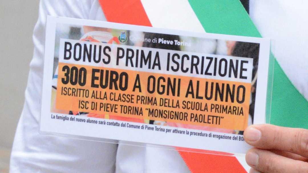 Gentilucci, bonus di 300 euro per ogni nuovo iscritto alla prima classe primaria di Pieve Torina